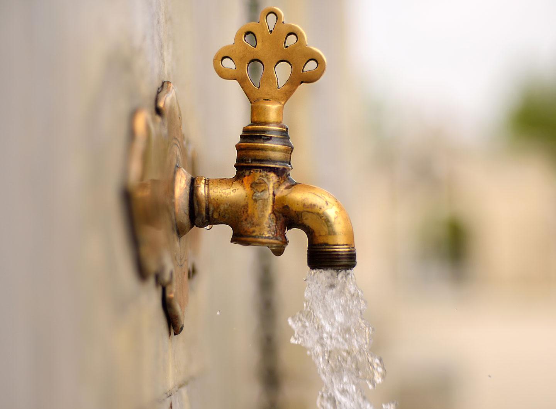 صورة لصنبور مياه.