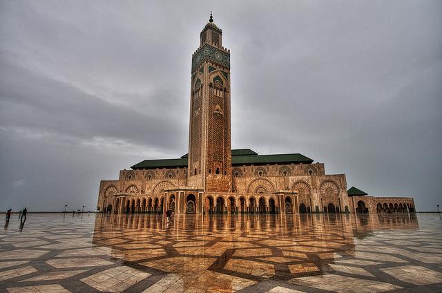 مسجد الحسن الثاني بالمغرب.