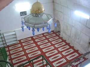 صورة لمصلى البراق من داخل المسجد الأقصى.