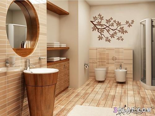 صورة لحمام من الداخل.